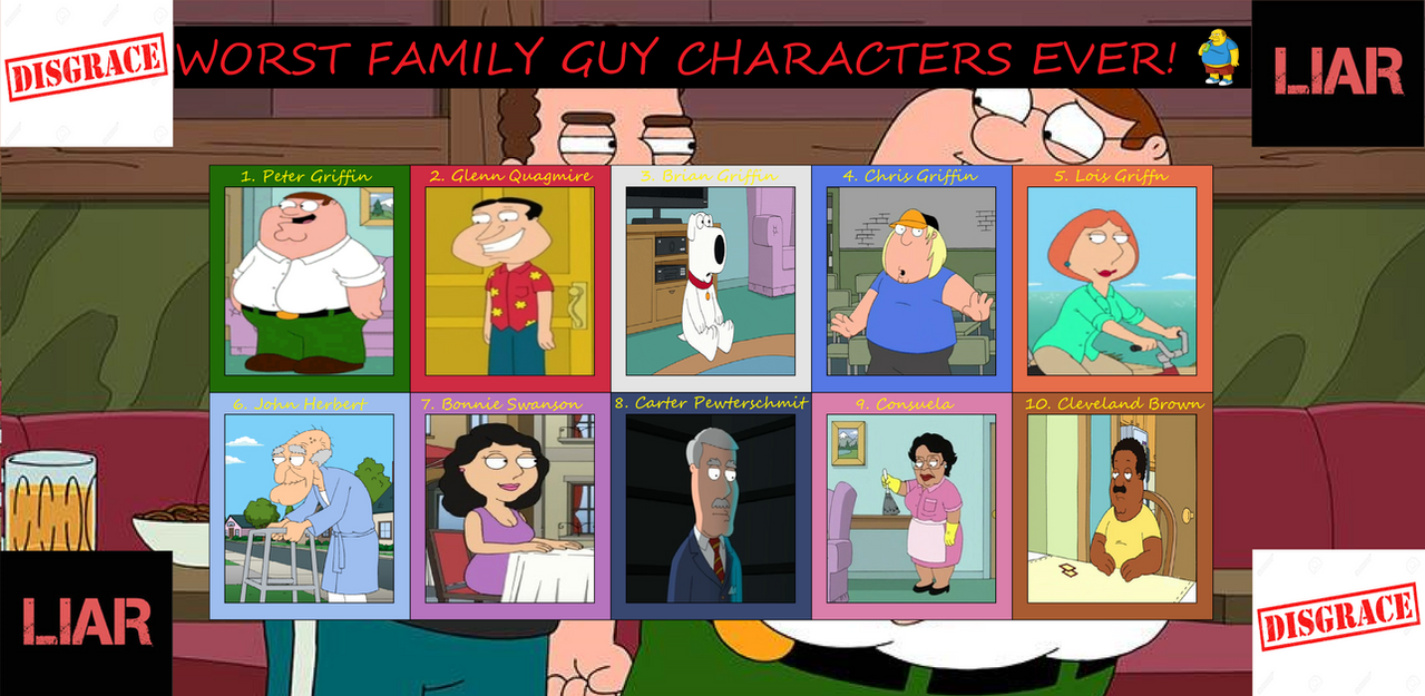 worst family guy characters ever by hazlamsaurus on