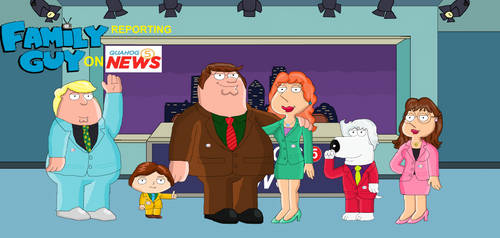 Family Guy Reporting on Quahog 5 News