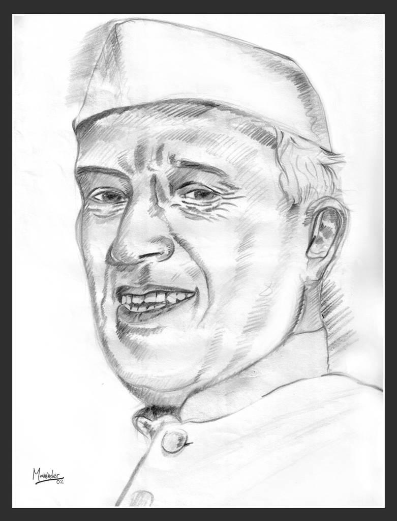 Jawaharlal nehru by manicolorz
