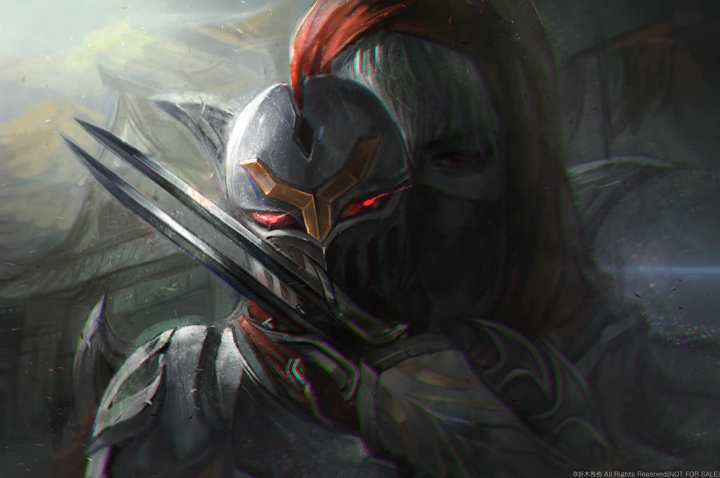 Zed League Of Legends Face ZED FAN ART by OrekiGenya