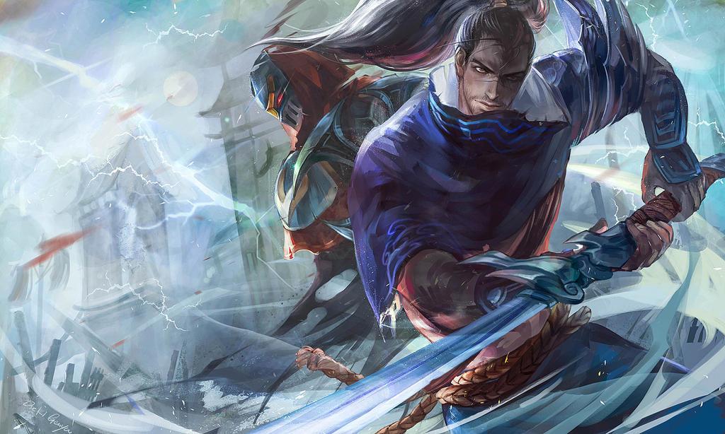FanArt !! ZED VS YASUO by OrekiGenya on DeviantArt