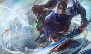 FanArt !! ZED VS YASUO by OrekiGenya