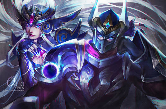 Zed and Syndra LOL FanArt Commission