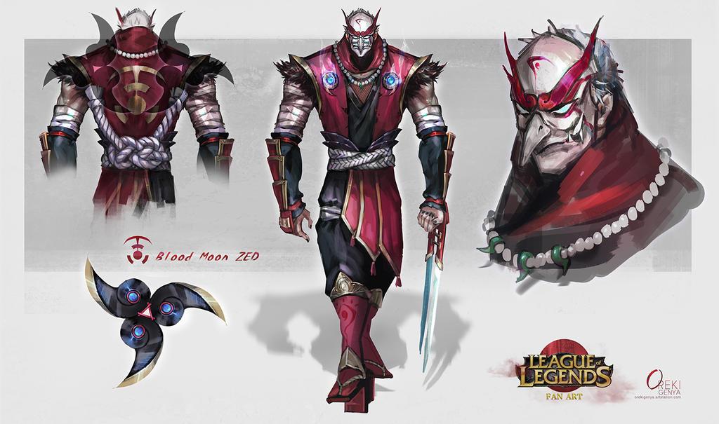 Fanart bloodmoon zed by orekigenya on deviantart - Blood moon zed ...