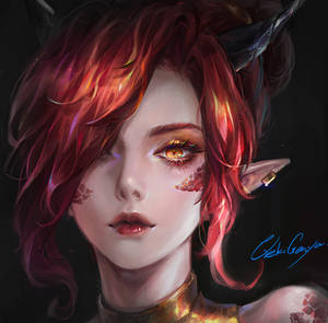 Dragon girl Avatar commission