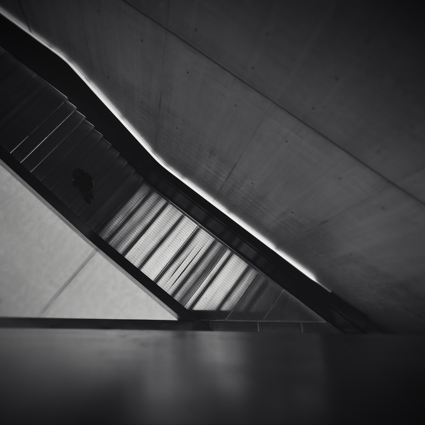 Trapped Light Between Concrete And Steel by AlexandruCrisan