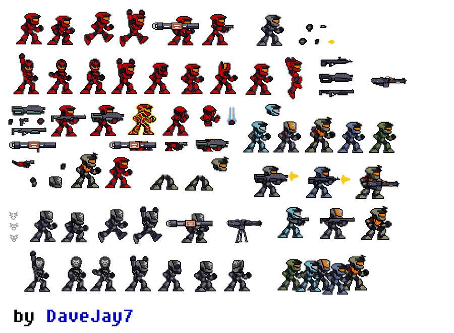 Halo Reach Sprite Sheet Update by DaveJay7 on DeviantArt