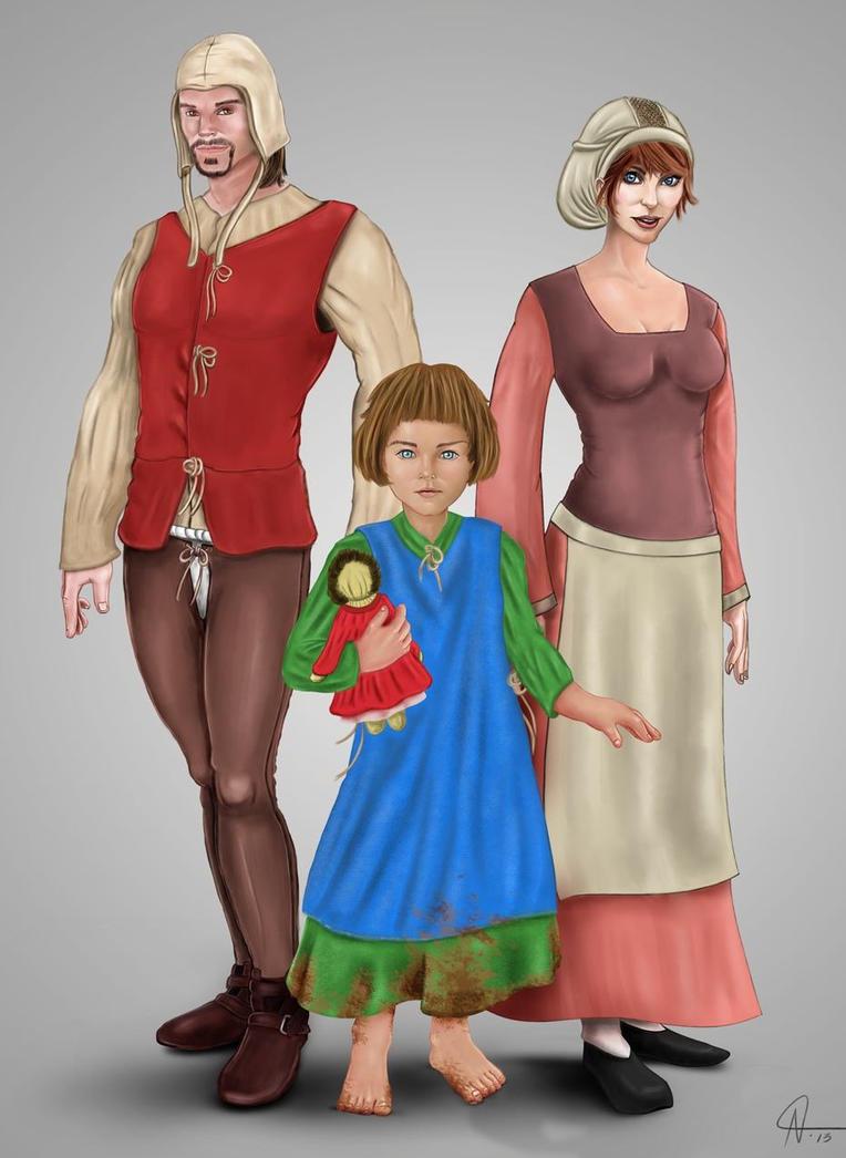 14th Century Family by rotsentu