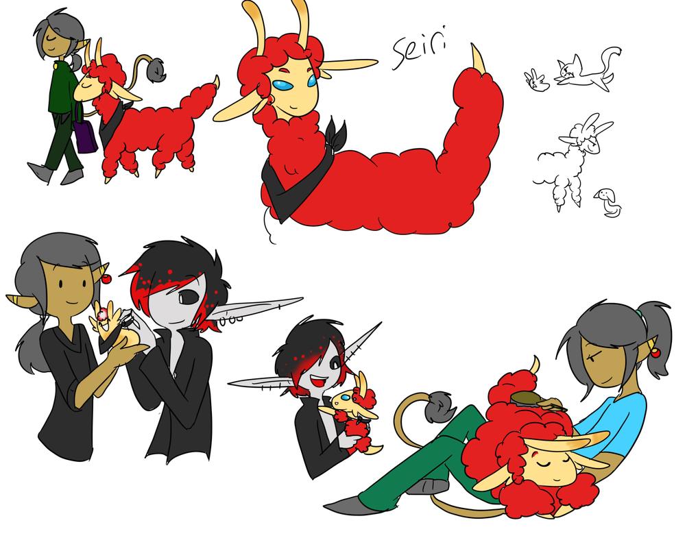 Seiri doodles by AskJericosFashion