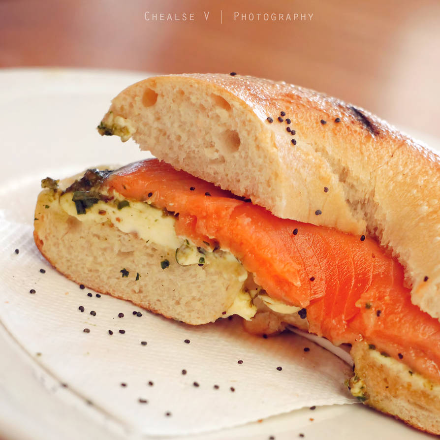 Salmon bagel by chealse