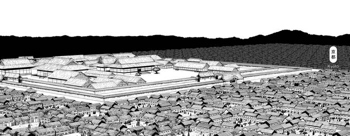My drawing of Heian Kyoto - 1185 AD