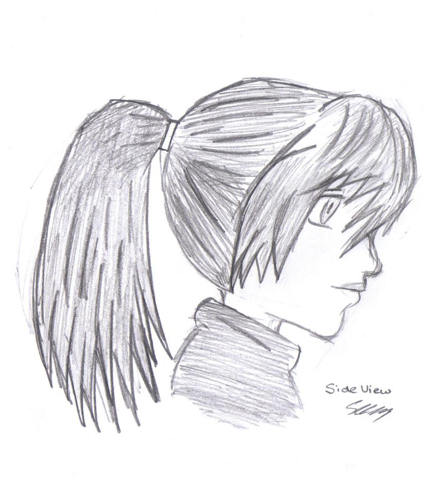 Manga Girl Side View By AeolianFlame