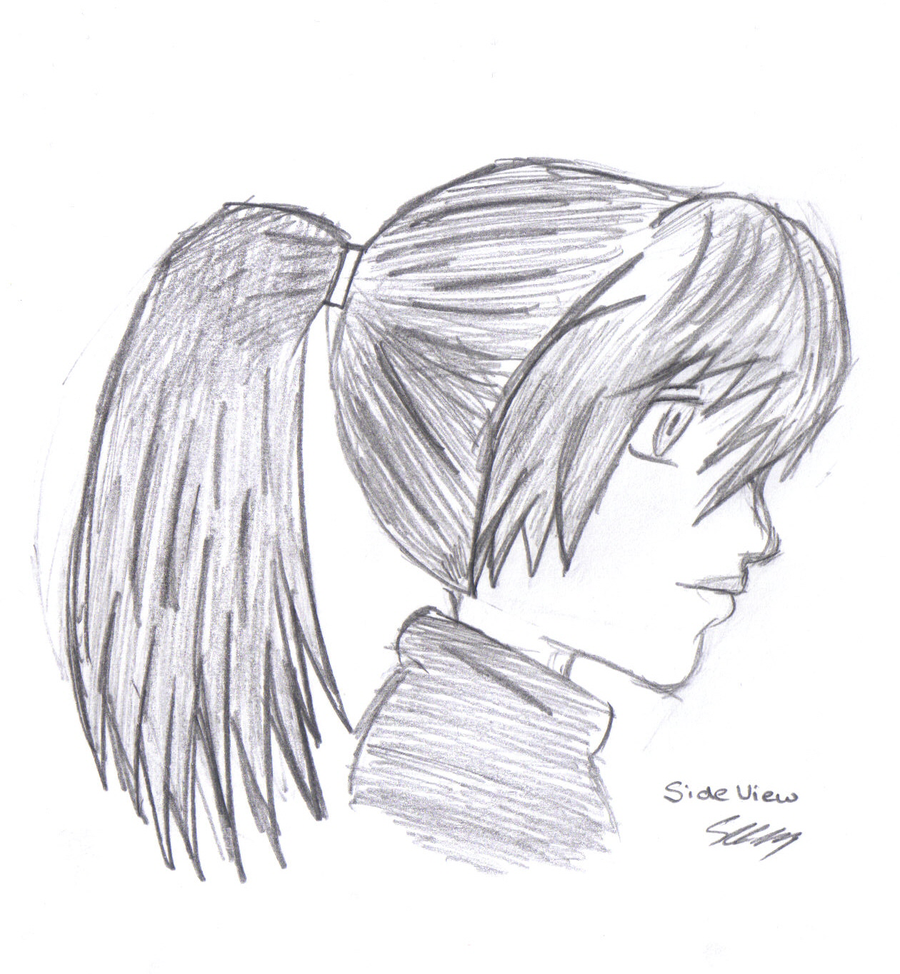 Manga girl side view by aeolianflame on deviantart