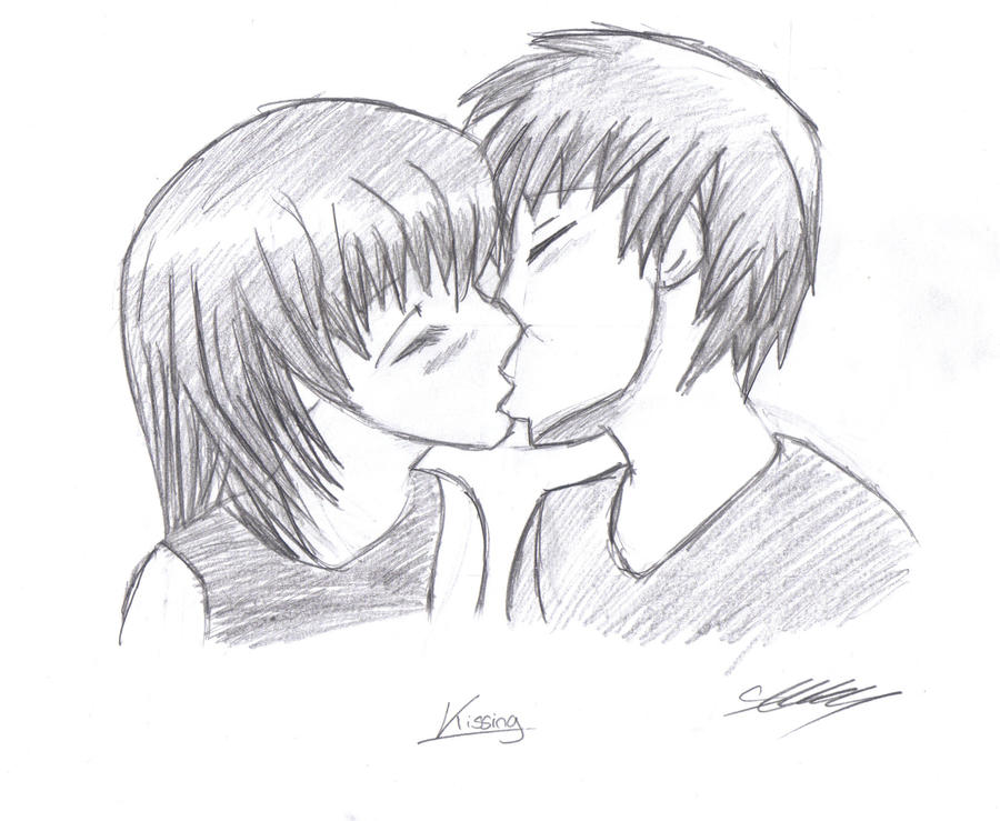 Manga Girl And Boy Kissing By Aeolianflame On Deviantart