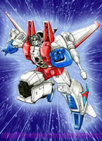 IDW Starscream card - colored by Starshot-seeker