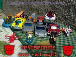 My Autobots toys by Starshot-seeker
