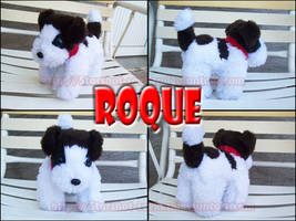 Roque the plushie dog by Starshot-seeker