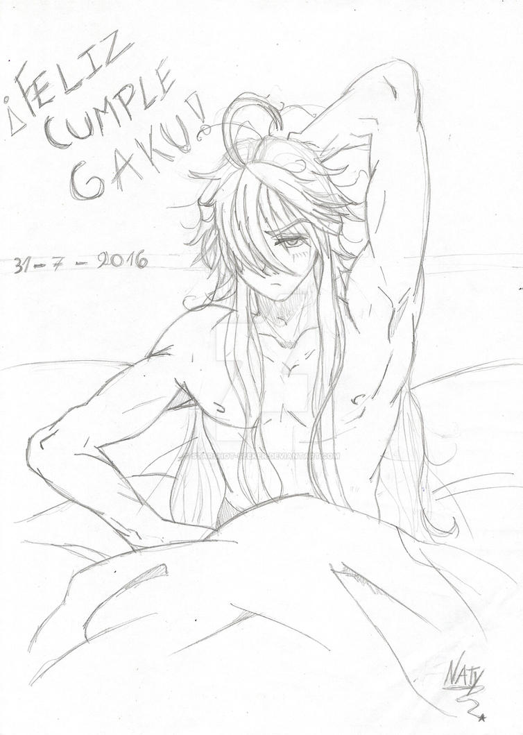 sketch - Wake up Gakupo... it's your Birthday by Starshot-seeker