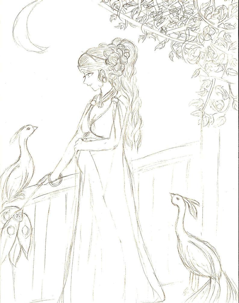 How to draw greek goddess, hera Hera Drawing Easy