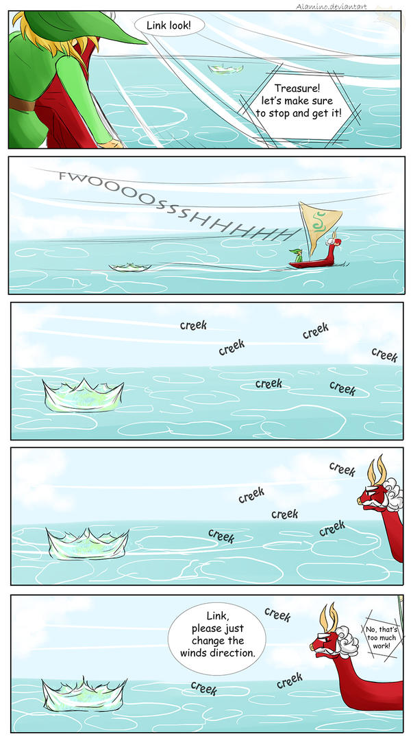 Misshaps of Link 7 Sailing by Alamino