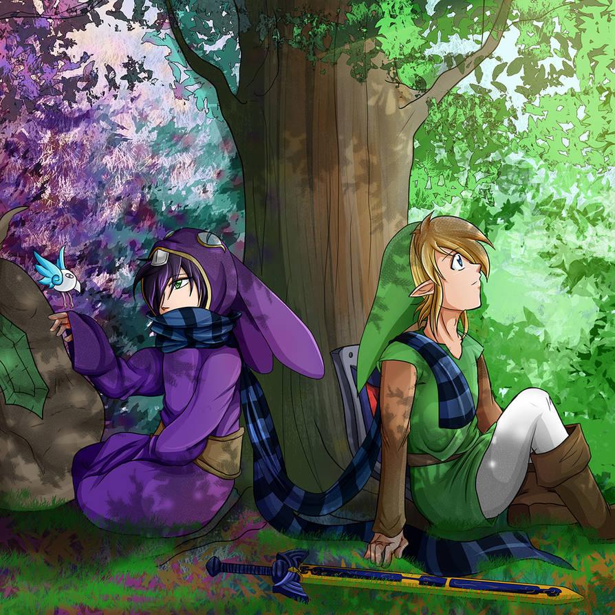 Ravio with Link - Link Between Worlds