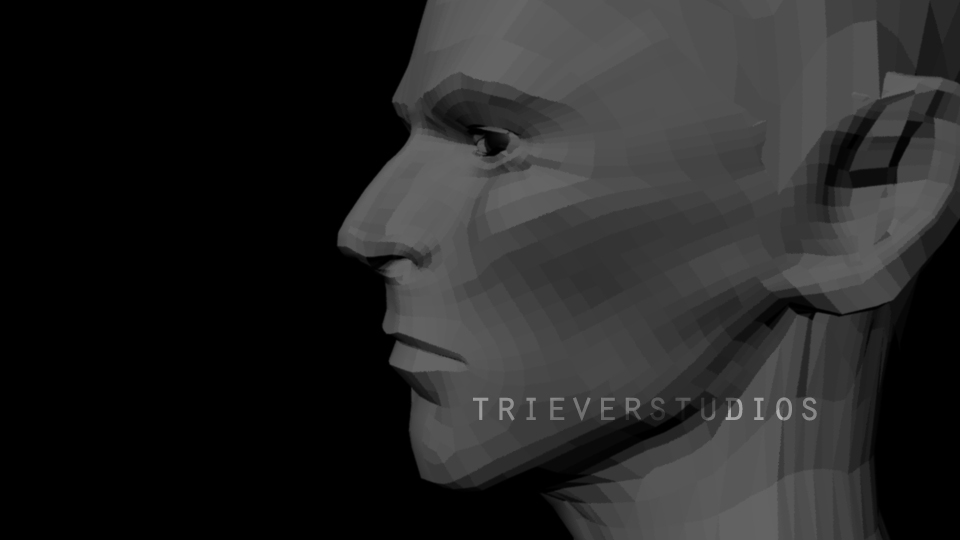 WIP 3D Bowie Bust by Triever