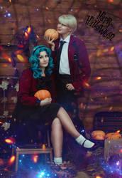 Haruka and Michiru Happy Halloween by LadaSever