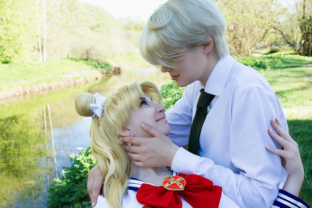 Haruka and Usagi by LadaSever