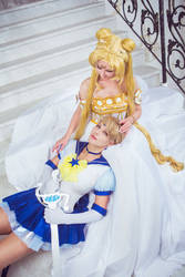 Eternal Sailor Uranus and Princess Serenity by LadaSever