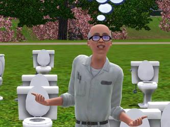Venturian Sims: Toilet Toucher by LAngel2