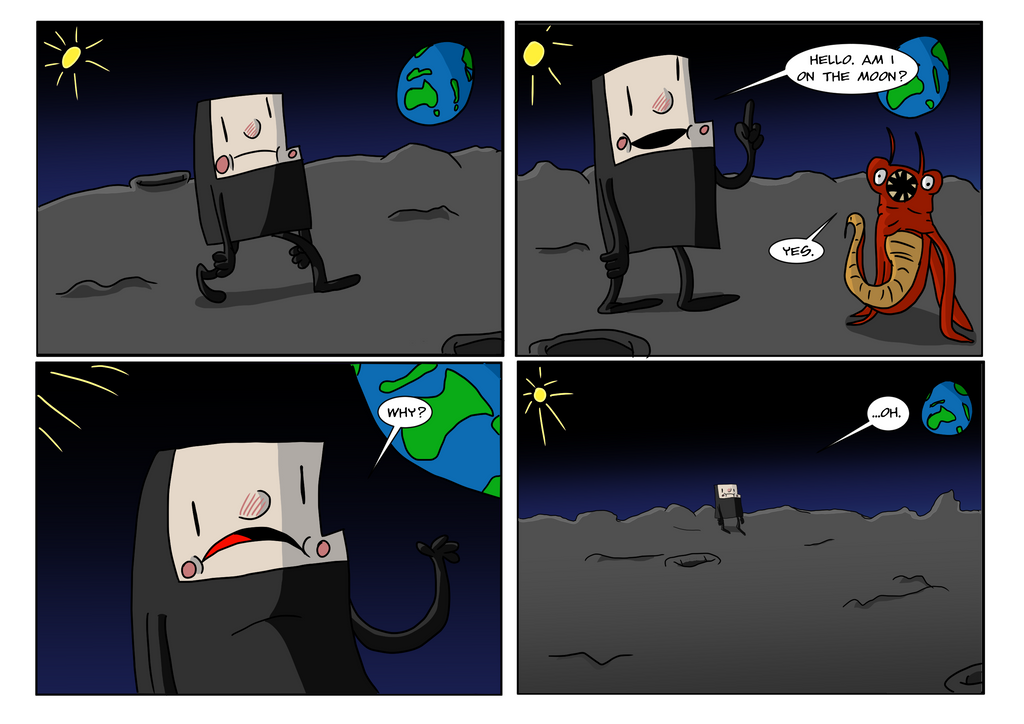 On the Moon #01 by andyofcomixinc