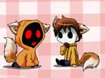 ChibiNeko2 Hoodie and Masky