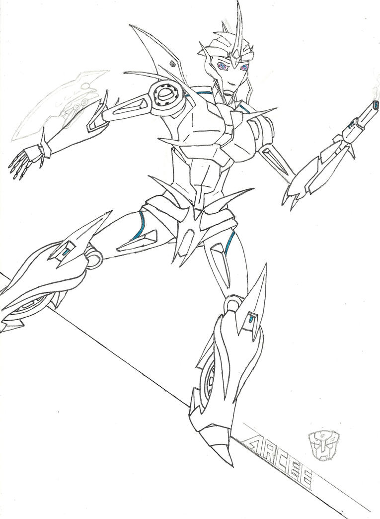 arcee transformers prime coloring pages - photo#10
