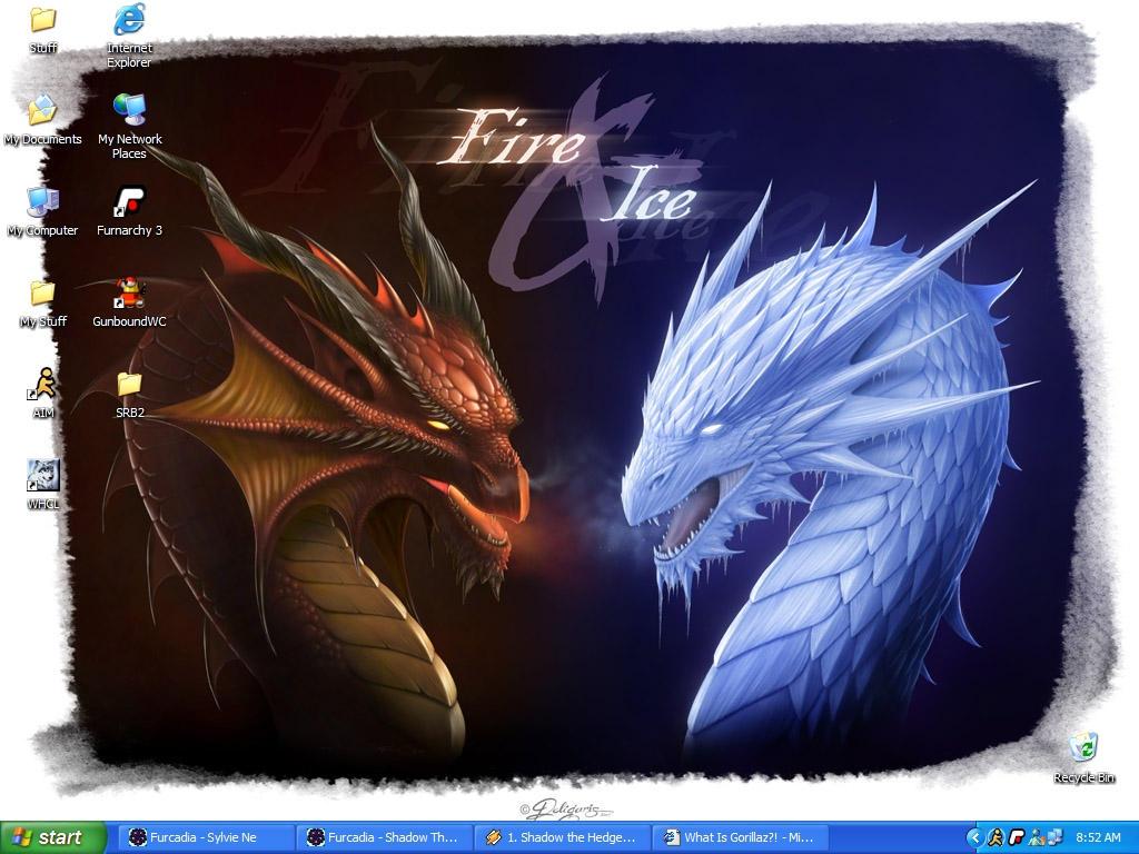 Desktop: Dragons by SylvieNe