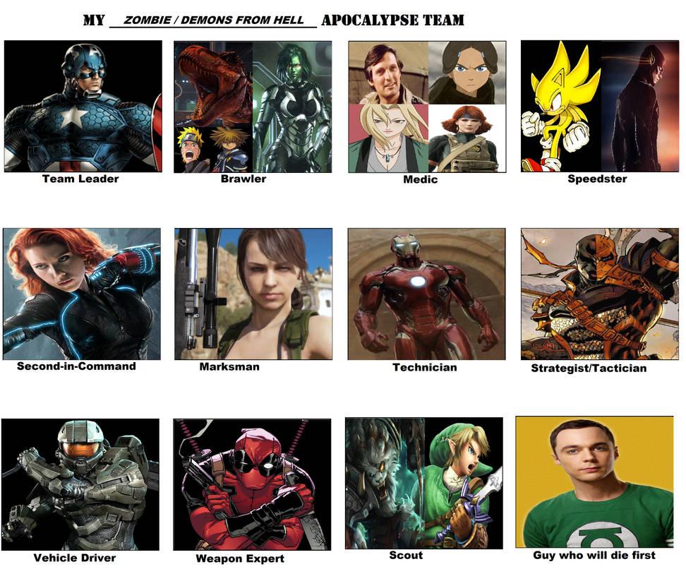 My apocalypse team meme zombie demon apocalypse by wolfblade111