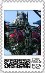 Optimus Prime Postage Stamp by WOLFBLADE111