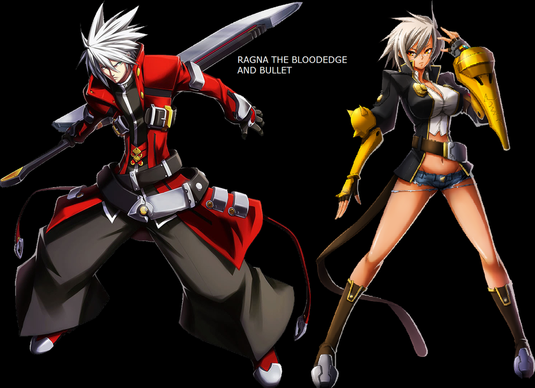 ragna the bloodedge and bullet by wolfblade111 on deviantart
