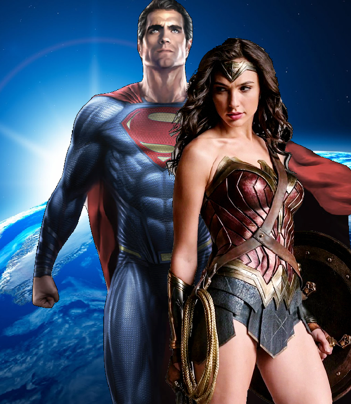 wonder woman & superman