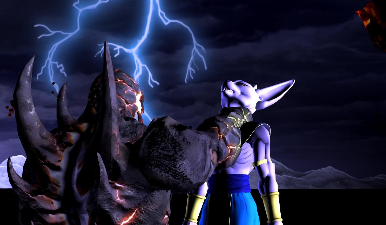 dark kahn defeats lord beerus by wolfblade111 on deviantart