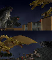 Clash of Titans. by WOLFBLADE111