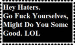 Stamp: Hey Haters by WOLFBLADE111