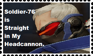 Straight Soldier-76 Headcannon Stamp