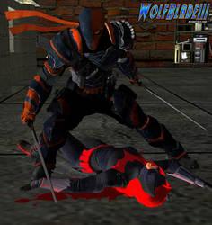 Deathstroke Defeats BatWahmen by WOLFBLADE111