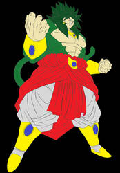 Legendary Super Saiyan 4 Broly. (Green Fur)