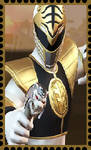 Stamp: White Ranger by WOLFBLADE111