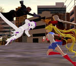 Request: Shazam and Usagi vs Frieza and Zod