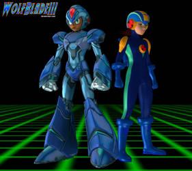 Megaman X and Megaman EXE