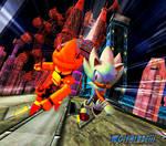 Hyper Sonic vs Super Mecha Sonic
