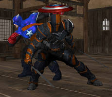 Request: BuckyCap and Deathstroke