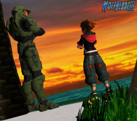Master Chief and Sora